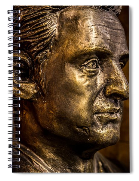The Man In Black Spiral Notebook