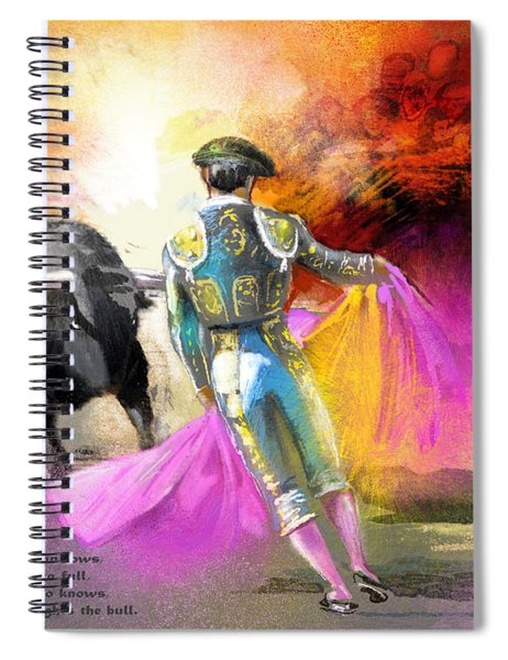 The Man Who Fights The Bull Spiral Notebook