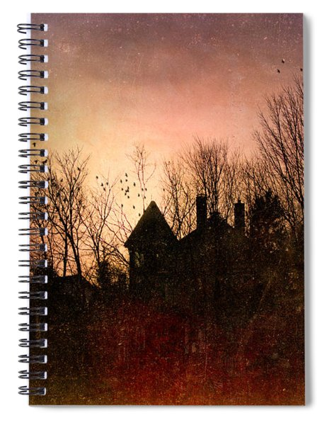 The Mansion Is Warm At The Top Of The Hill Spiral Notebook