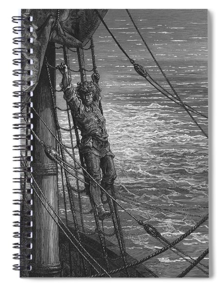 The Mariner Describes To His Listener The Wedding Guest His Feelings Of Loneliness And Desolation  Spiral Notebook