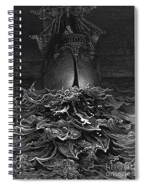 The Mariner Gazes On The Ocean And Laments His Survival While All His Fellow Sailors Have Died Spiral Notebook