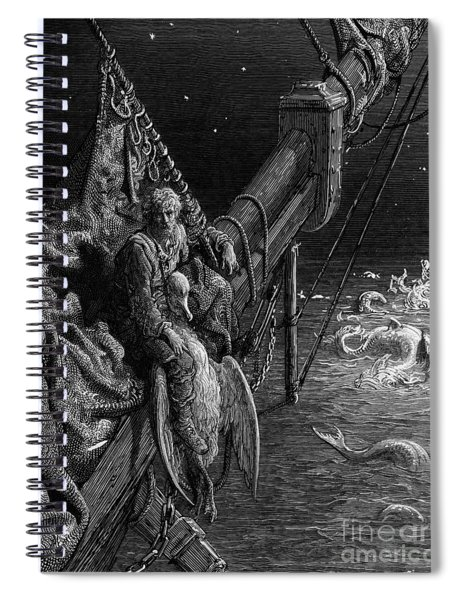 The Mariner Gazes On The Serpents In The Ocean Spiral Notebook