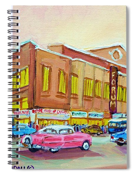The Montreal Forum Spiral Notebook