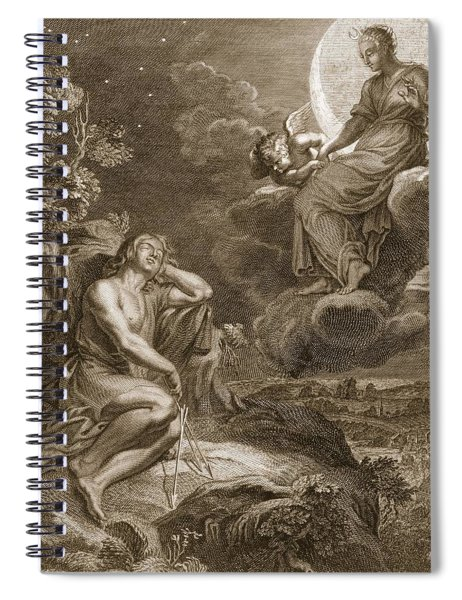 The Moon And Endymion, 1731 Spiral Notebook