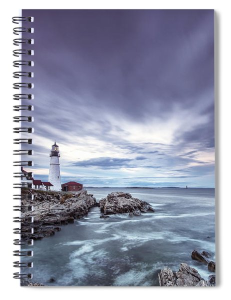 The Motion Of Light Spiral Notebook