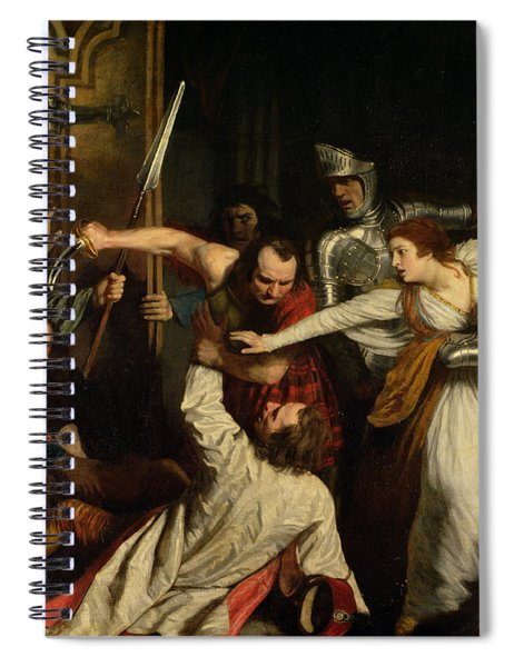 The Murder Of Rizzio, 1787 Oil On Canvas Spiral Notebook