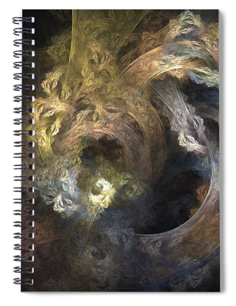 The Mystical Garden - Abstract Art Spiral Notebook