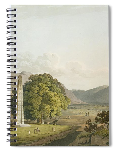 The Obelisk At Axum, Engraved By Daniel Spiral Notebook