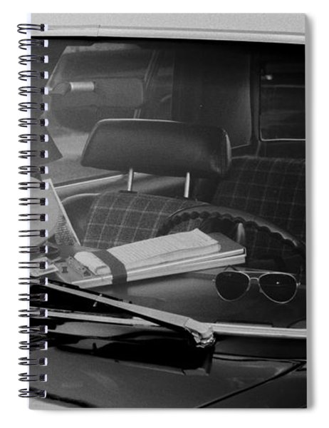 Spiral Notebook featuring the photograph The Office On Wheels by Jim Thompson