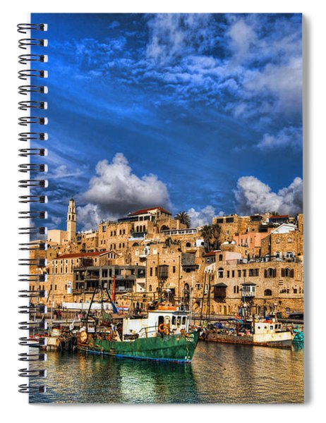 the old Jaffa port Spiral Notebook