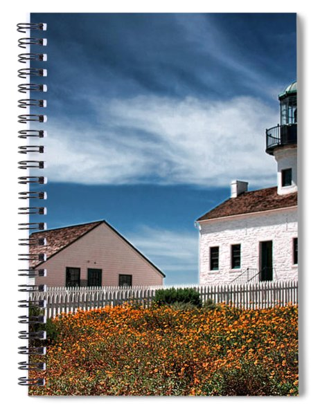 The Old Point Loma Lighthouse By Diana Sainz Spiral Notebook