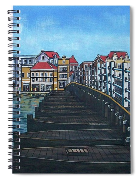 The Old Queen Emma Bridge In Curacao Spiral Notebook