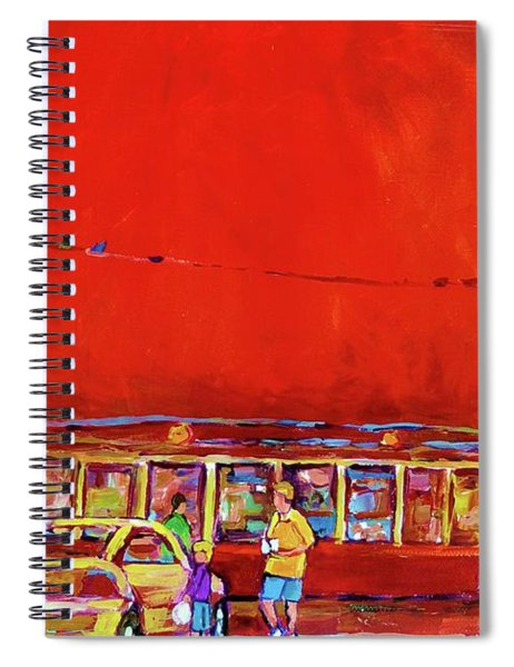 The Orange Julep Montreal Summer City Scene Spiral Notebook