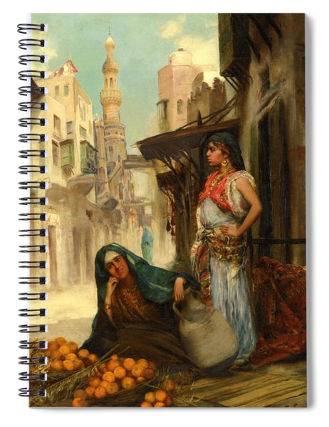 The Orange Seller Spiral Notebook