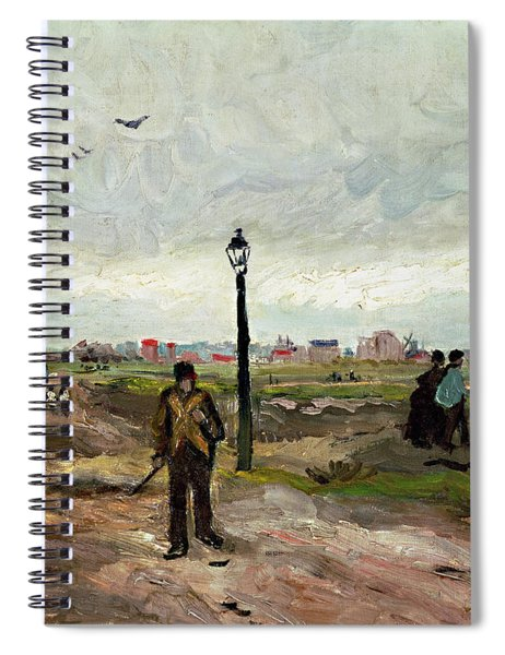 The Outskirts Of Paris Spiral Notebook