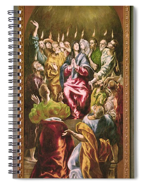 The Pentecost, C.1604-14 Oil On Canvas Spiral Notebook