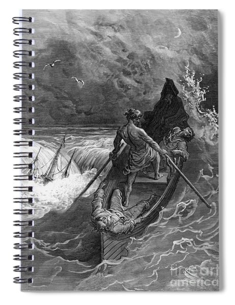 The Pilot Faints Scene From 'the Rime Of The Ancient Mariner' By S.t. Coleridge Spiral Notebook