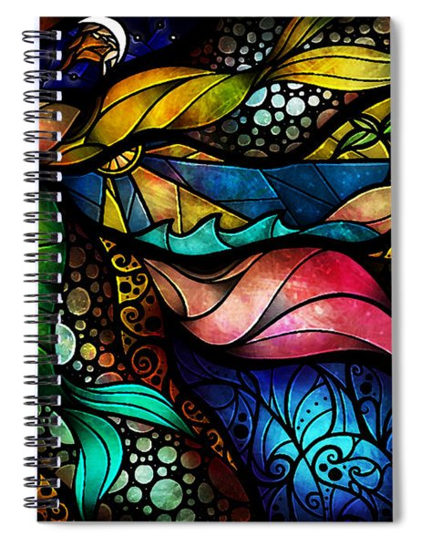 The Place Between Sleep And Awake Spiral Notebook
