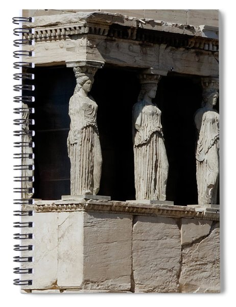 Spiral Notebook featuring the photograph The Porch Of Maidens by Lorraine Devon Wilke