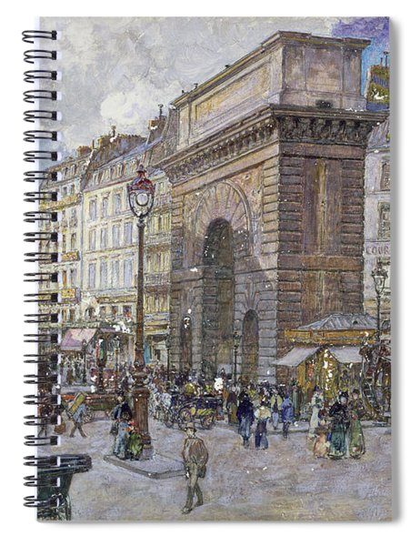 The Porte Saint-martin, 1898 Oil On Board Spiral Notebook