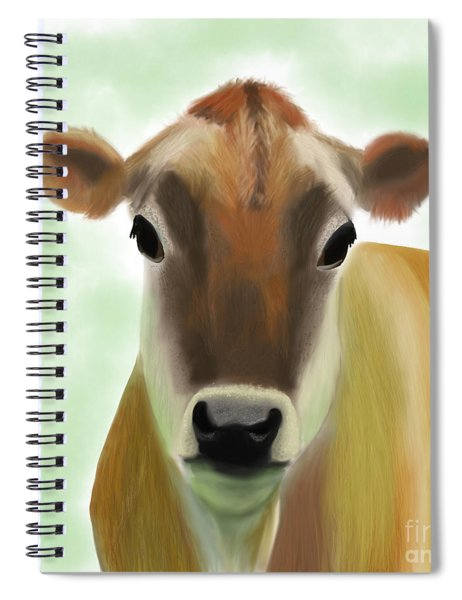 The Pretty Jersey Cow  Spiral Notebook