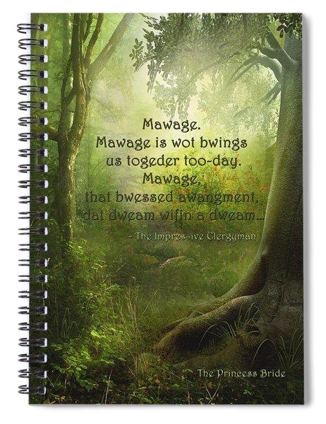 The Princess Bride - Mawage Spiral Notebook