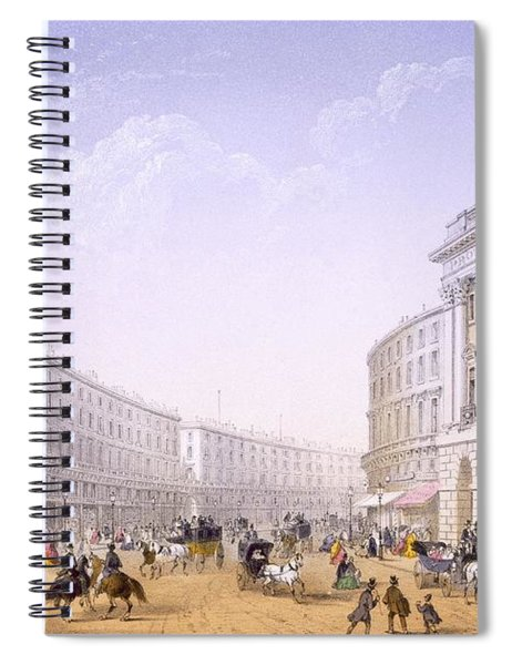 The Quadrant And Regent Street, London Spiral Notebook