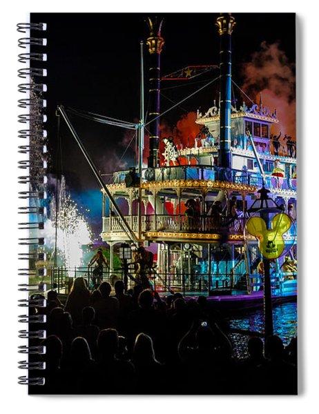 The Mark Twain Disneyland Steamboat  Spiral Notebook