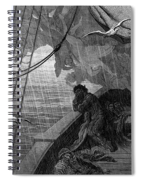 The Rain Begins To Fall Spiral Notebook