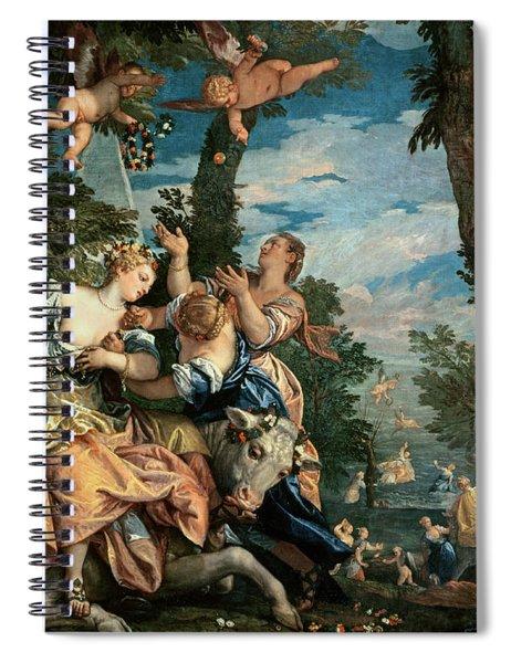 The Rape Of Europa Spiral Notebook