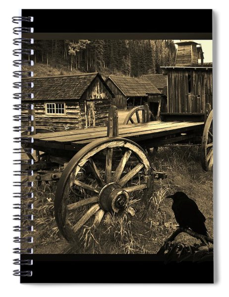 The Raven Flies Straight Spiral Notebook