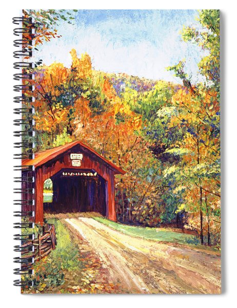 The Red Covered Bridge Spiral Notebook
