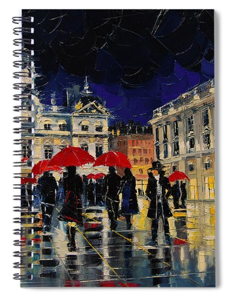 The Rendezvous Of Terreaux Square In Lyon Spiral Notebook