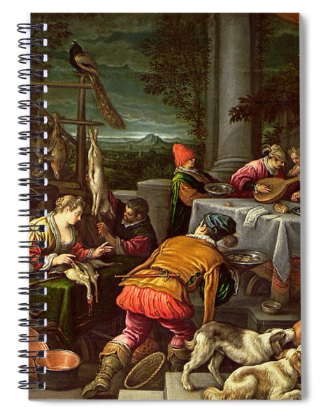The Rich Man And Lazarus, 1590-95 Spiral Notebook