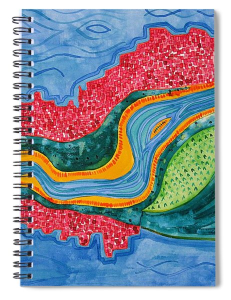 The Riffles Original Painting Spiral Notebook