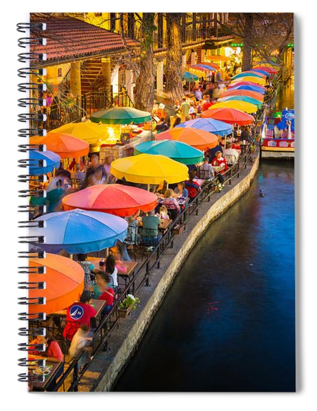 Spiral Notebook featuring the photograph The Riverwalk by Inge Johnsson