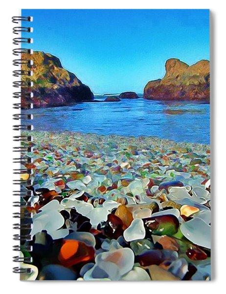 Glass Beach In Cali Spiral Notebook