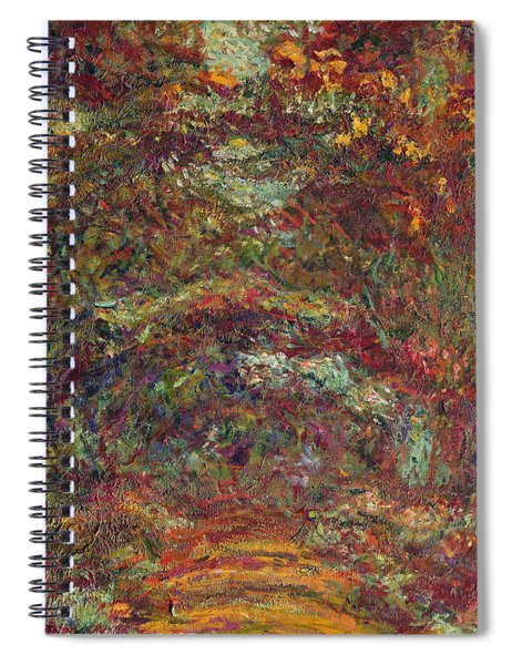 The Rose Path, Giverny, 1920-22 Oil On Canvas Spiral Notebook