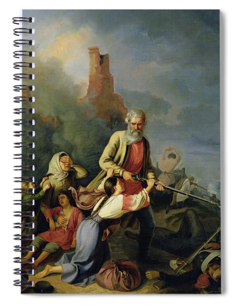 The Russians In 1812, 1855 Oil On Canvas Spiral Notebook