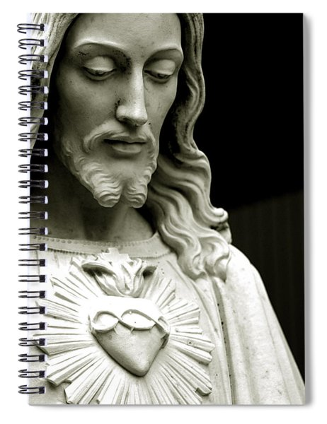 The Sacred Heart Of Jesus, 19th Century Spiral Notebook