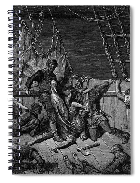 The Sailors Curse The Mariner Forced To Wear The Dead Albatross Around His Neck Spiral Notebook