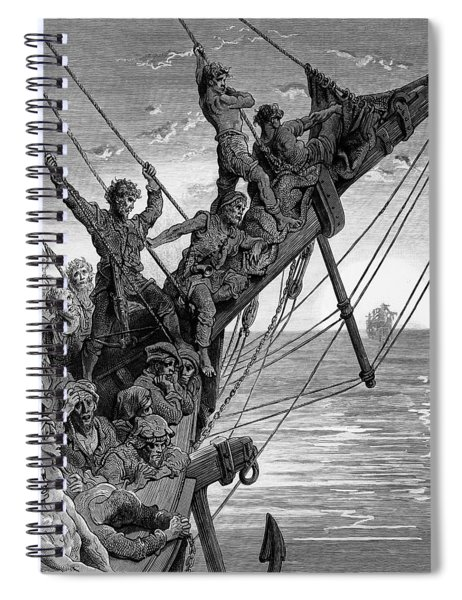 The Sailors See In The Distance A Ghostly Ship Spiral Notebook