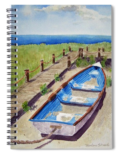 The Sandy Boat Spiral Notebook