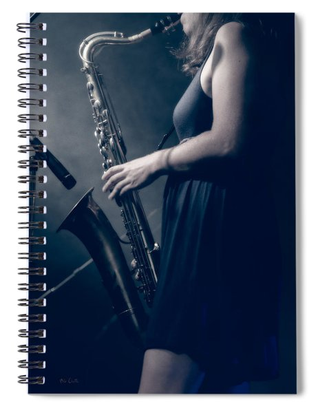The Saxophonist Sounds In The Night Spiral Notebook