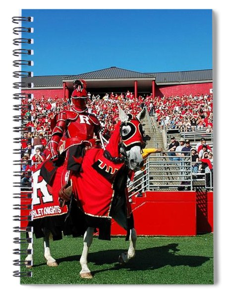 The Scarlet Knight And His Noble Steed Spiral Notebook