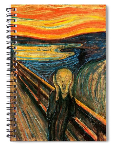 Spiral Notebook featuring the painting The Scream Edvard Munch 1893                    by Movie Poster Prints