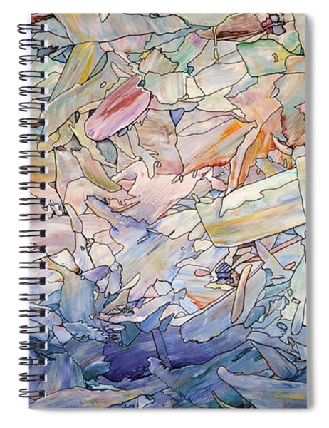 Spiral Notebook featuring the painting Fragmented Sea by James W Johnson