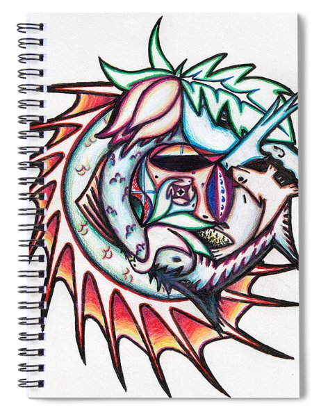 The Seahorse Mosaic Spiral Notebook