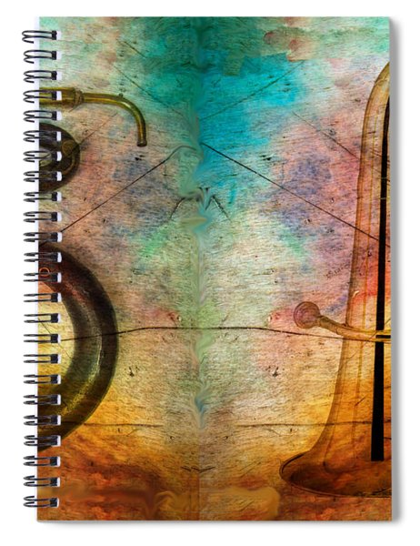 The Serpent And Euphonium -  Featured In Spectacular Artworks Spiral Notebook