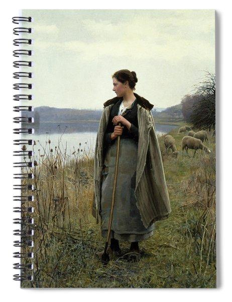 The Shepherdess Of Rolleboise Spiral Notebook